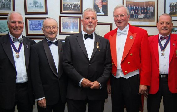BGA Dinner 26.09.14 TomCuttill Tony Moss Glynn Evans David Eccleston Derek Makin