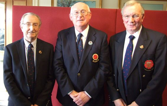 Tony Moss (Hon Vice President) Tony McMunn President and David Eccleston Imm Past President