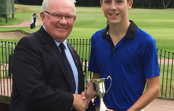 2016 Under 14 Champion, Oliver Duck of Childwall GC