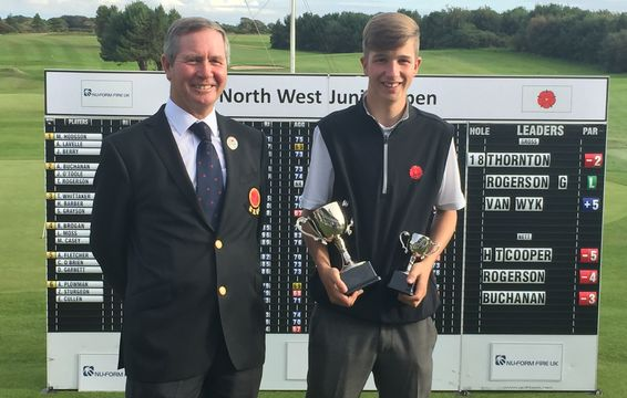 North West Junior Open Champion - Sam Thornton