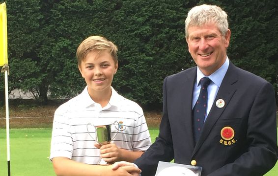 2018 Under 14 Champion, Sean Dobson of Royal Birkdale